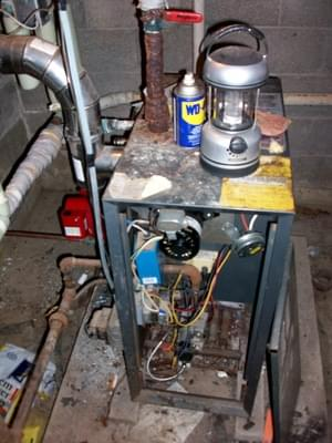 Old Boiler<br>Before